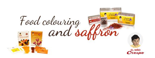 Food colouring and saffron
